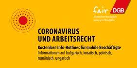 Coronavirus Arbeitsrecht Hotline
