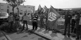 Bauarbeiter im Streik